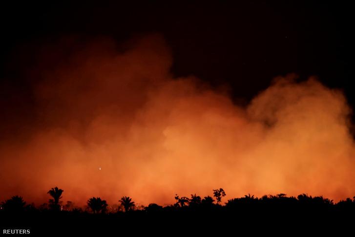 Amazonasi esőerdőben tomboló lángok 2019. augusztus 17-én