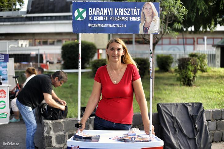 Ferencvárosi ellenzéki előválasztást Baranyi Krisztina nyerte
