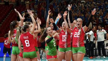 Fontos győzelem a röplabdás nők első Eb-meccsén