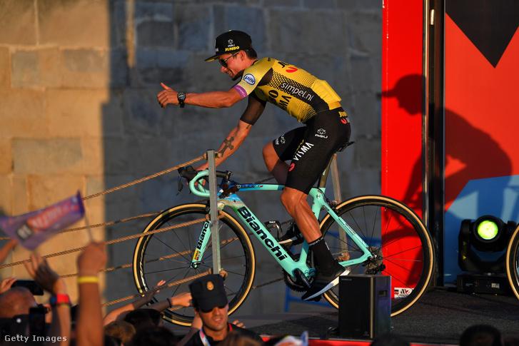 Primož Roglič a Vuelta nyitórendezvényén Morariraban 2019. augusztus 22-én