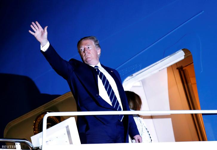 Donald Trump a G7 találkozóra indulása előtt Marylandben 2019. augusztus 24-én