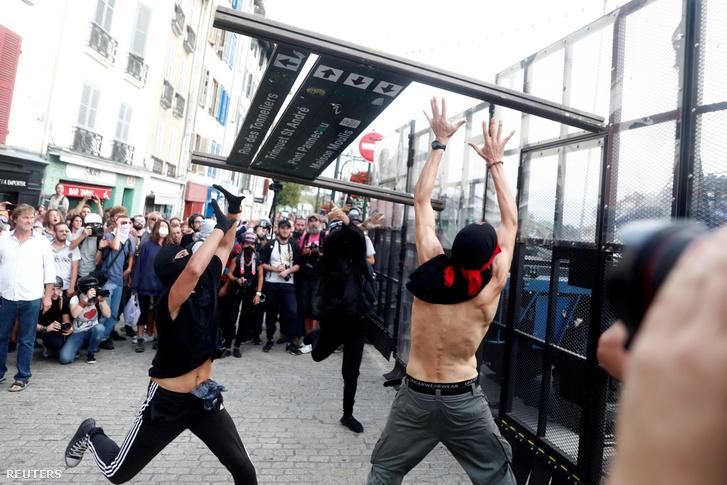 Tüntetés Bayonne-ban 2019. augusztus 24-én.