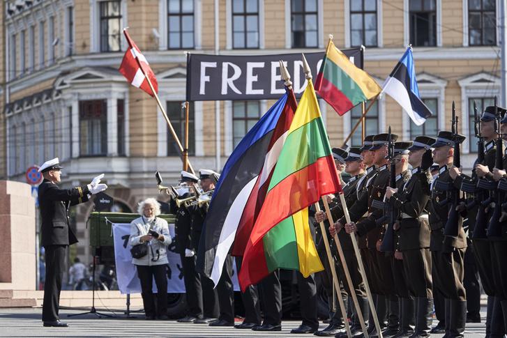 Állami ünnepség Rigában.