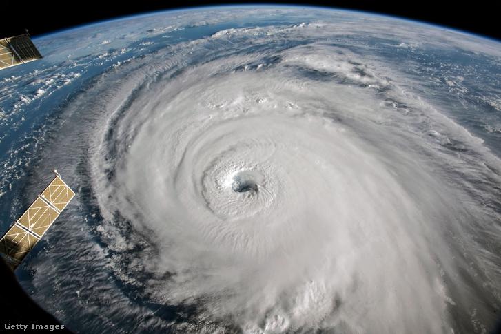 Florence hurrikán a Nemzetközi Űrállomásról 2018. szeptember 12-én
