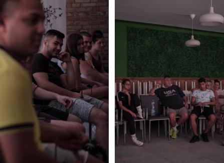 A film utáni csoportos beszélgetés