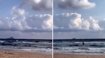 Egy üdülőhelytől nem messze csapódott a tengerbe egy spanyol harci repülőgép
