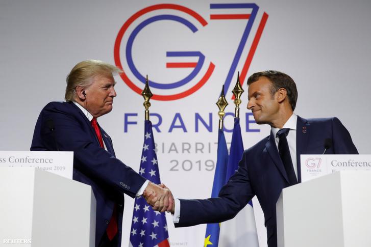 Donald Trump és Emmanuel Macron 2019. augusztus 26-án.