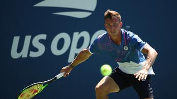 US Open: ötszettes hullámvasút után esett ki Fucsovics