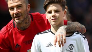 Kész férfivá érett David Beckham legkisebb fia