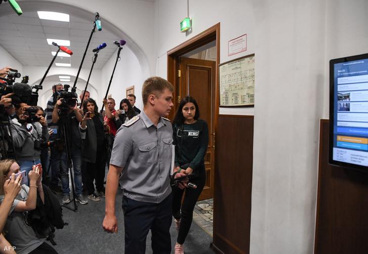 Kresztina Hacsaturján a moszkvai bíróságon 2019. június 26-án