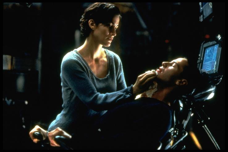Carrie-Anne Moss és Keanu Reeves