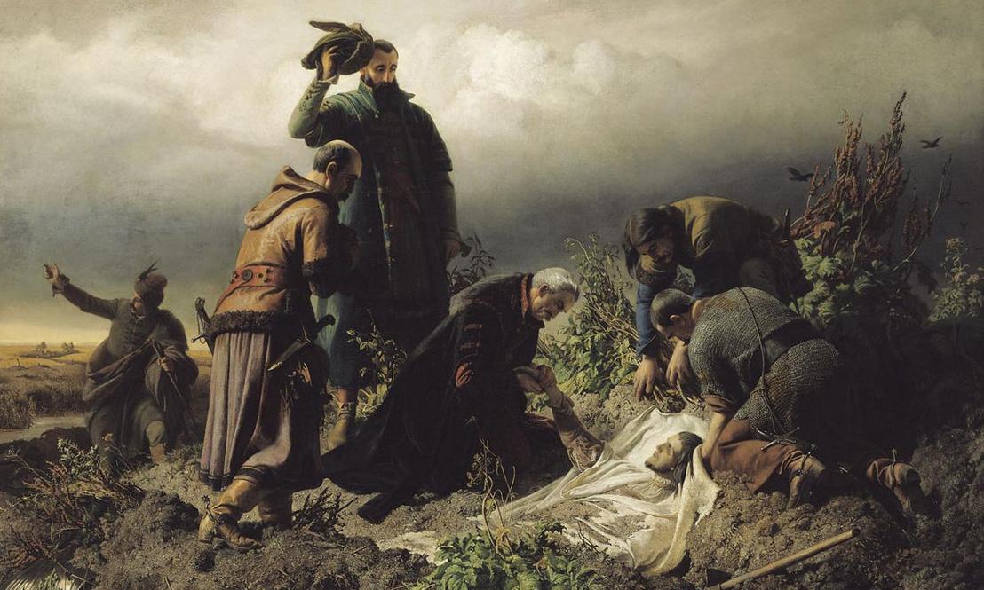 II. Lajos holttestének megtalálása (Székely Bertalan, 1860)
