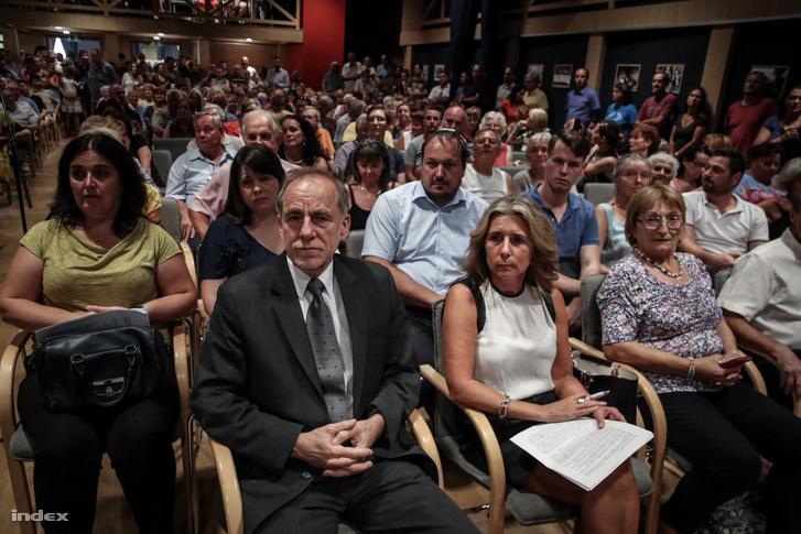 Gromon István, Pilisvörösvár független polgármestere a lakossági fórumon 2019. augusztus 27-én