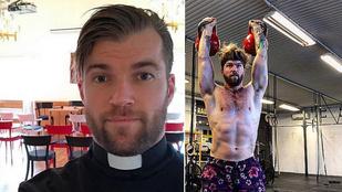 Ez a jóképű, svéd lelkész arról posztol az Instagramra, mennyire szereti a Crossfitet