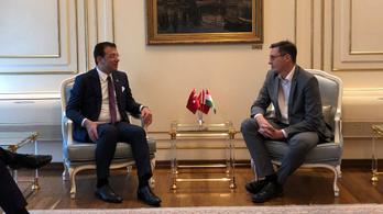 Az Erdogan jelöltjét legyőző isztambuli főpolgármesterrel találkozott Karácsony Gergely