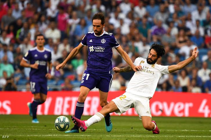 Isco szerel a Real Valladolid elleni meccsen