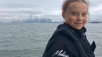 Megérkezett Greta Thunberg vitorlása New Yorkba