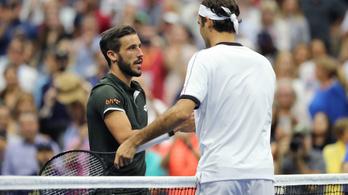 Federer újra bukta az első szettet a US Openen