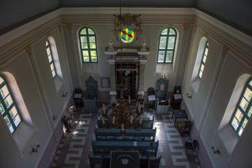 A zsinagóga imatere a női karzatról