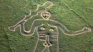 Önkéntesek renoválták Angliában az óriáspéniszű, domboldalra vésett több száz éves rajzot