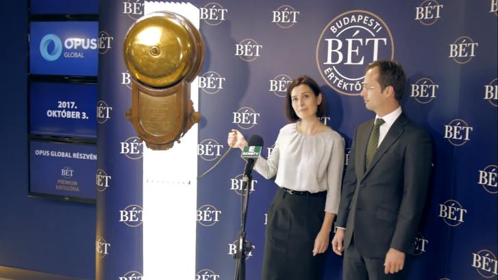 2017. október 3-án az Opus Global Nyrt. vezérigazgatója Ódorné Angyal Zsuzsanna indította el a kereskedést a hazai börzén a tőzsde legendás csengőjének megszólaltatásával.