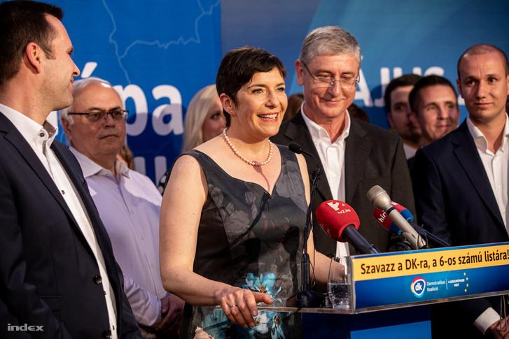 Dobrev Klára és Gyurcsány Ferenc az EP választás éjszakáján 2019. május 26-án