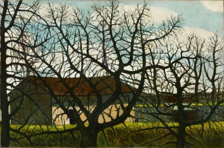 Falusi ház fák mögött