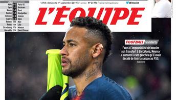 Neymar marad a PSG-nél, hirdeti címlapján a legnagyobb francia sportlap