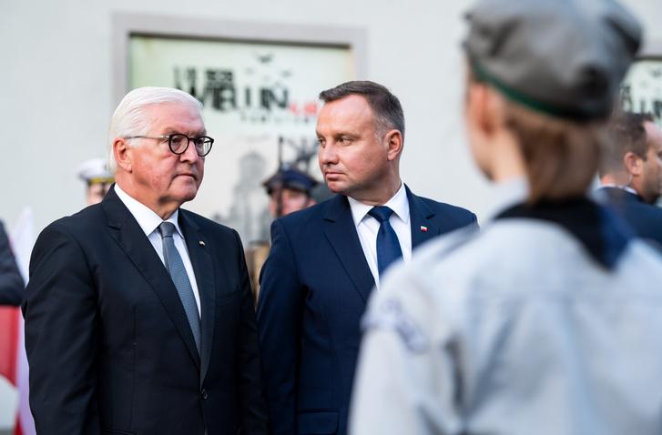 Frank-Walter Steinmeier és Andrzej Duda 2019. szeptember 1-jén.