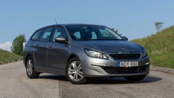 Használtteszt: Peugeot 308 SW BlueHDi 100 Stop & Start, Access - 2016.