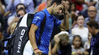 Đoković a nyolcaddöntőben feladta a US Opent, a közönség kifütyülte