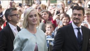 Esküvőre ment Katy Perry és Orlando Bloom, de nem a sajátjukéra