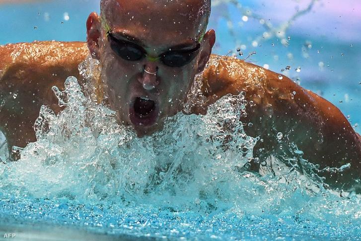 Cseh László a 200 méteres vegyes középdöntőjében Kvangdzsuban 2019. július 24-én.