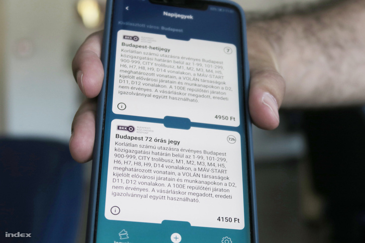 BKK: Napi és hetijegyet is lehet már mobilon vásárolni