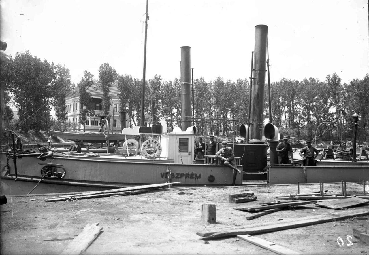 A siófoki kikötő 1912 körül