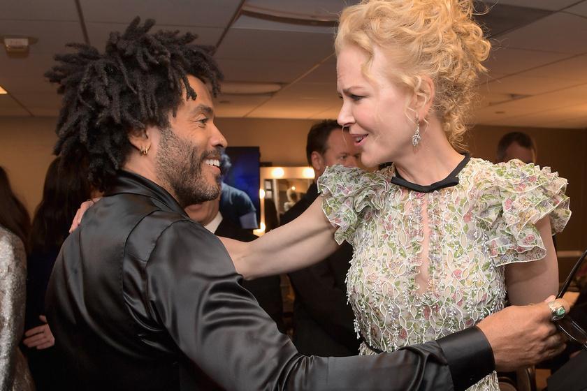 Nicole Kidman és Lenny Kravitz, bár felbontották eljegyzésüket, a mai napig örülnek egymásnak, ha összefutnak valamilyen vörös szőnyeges eseményen.