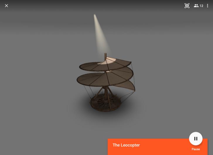 Google Expeditions - Leonardo da Vinci szerkezeteit is az asztalunkra helyezhetjük a kiterjesztett valóságban