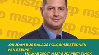 Az MSZP-s Molnár Zsolt az óbudai Fidesz reklámarca lett