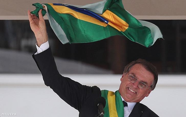Bolsonaro beiktatási ünnepségén Brazíliavárosban 2019. január 1-jén.