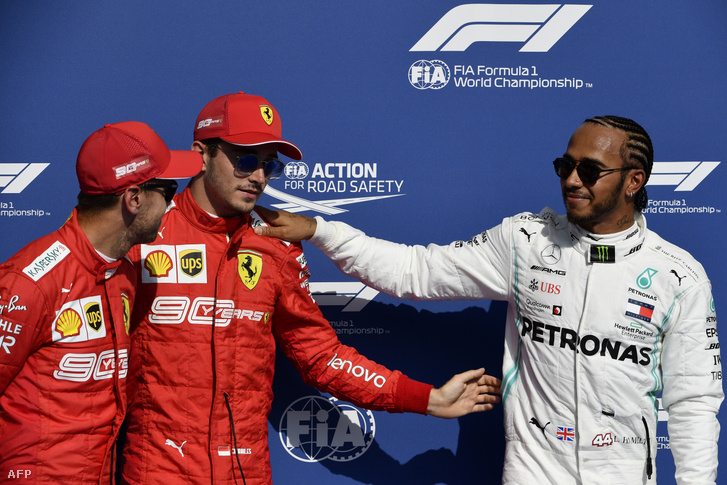 Vettel, Leclerc és Hamilton