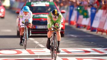 A szlovén menő mindenkit ledarált a Vuelta időfutamán