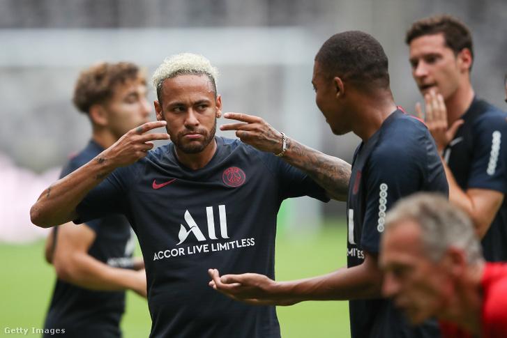 Neymar Jr a PSG edzésén Shenzenben 2019. augusztus 2-án