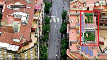 Marihuánaültetvényt buktatott le a Vuelta tévéhelikoptere