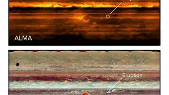 Óriás ammóniaviharok tépázzák a Jupiter sávjait