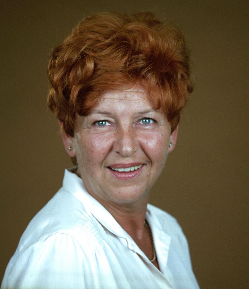 Pásztor Erzsi 1986-ban. Egy évvel később kezdett el forgatni a Szomszédokban.