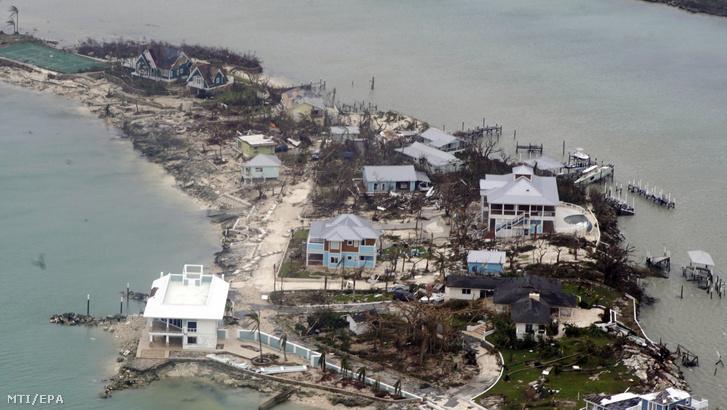Dorian hurrikán pusztítása a Bahama-szigeteken 2019. szeptember 3-án