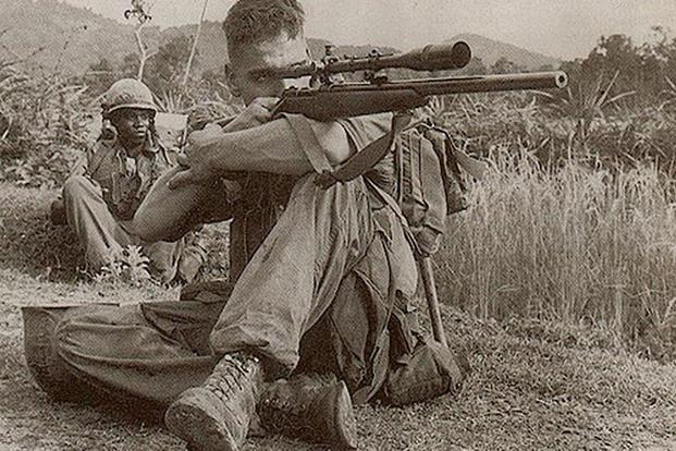 Carlos Hathcock Vietnam területén.
