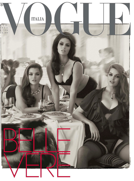 A Vogue címlapján még alsóneműben