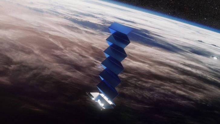 A SpaceX Starlink műholdrendszerének egyik darabja