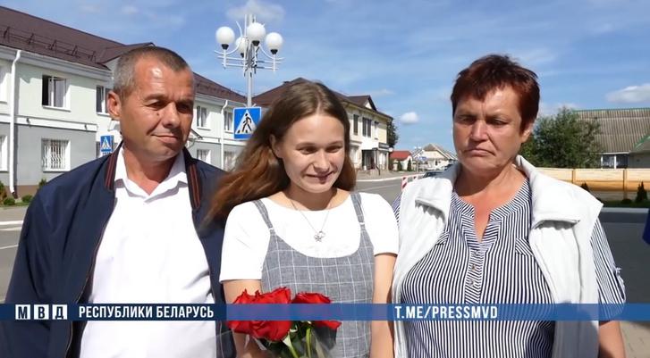 Julija a szüleivel
